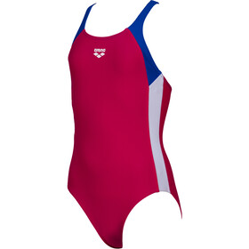 arena Ren One Piece Swimsuit Meisjes, freak rose/neon blue/white